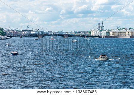 Boats On Neva River