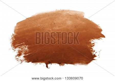 brown water color on white background for design