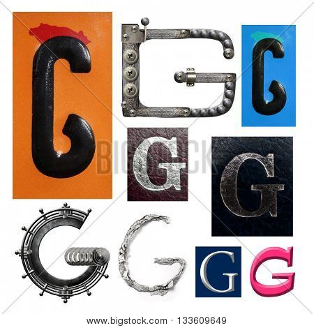 Collection alphabet. Letter G