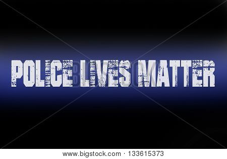 Police Lives Matter with blue vintage text