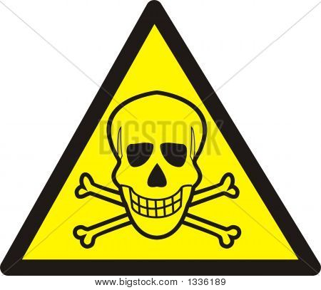 Dangerously. Poisonous Substances Sign