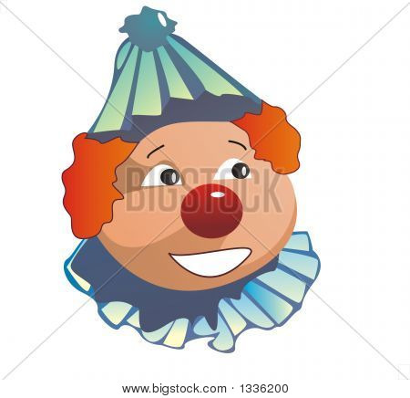 Smiling Clown In Blue