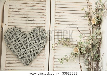 Heart Made Of Woven Branches