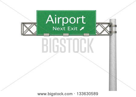 Highway Sign - Airport.
