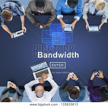 Bandwidth Broadband Computer Information Concept