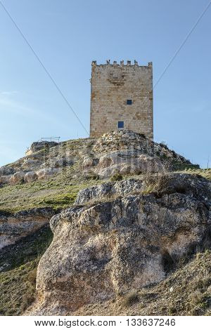 Castle Langa de Duero called The Cube province of Soria judicial district of El Burgo de Osma Castile and Leon Spain