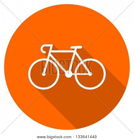 bicycle vector icon, circle flat design internet button, web and mobile app illustration
