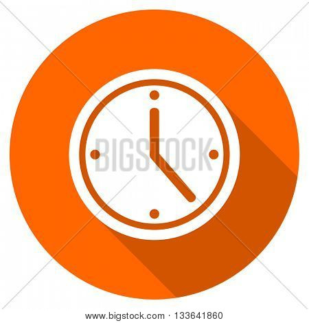 time vector icon, circle flat design internet button, web and mobile app illustration