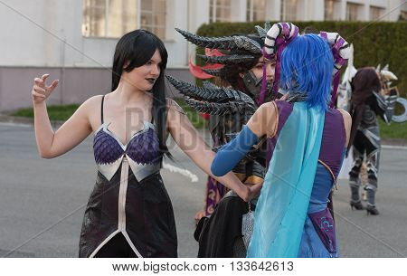 Cosplayers  Dressed As Characters From World Of Warcraft