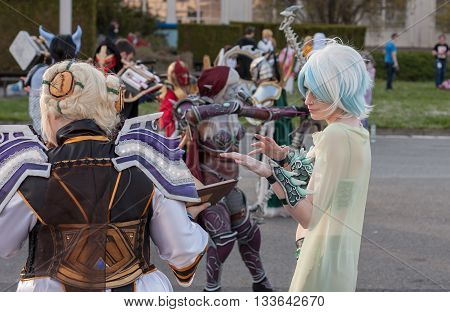 Cosplayer Dressed As Characters Yu´lon The Jade Serpent