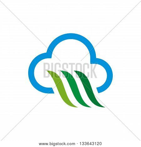 Design Abstract cloud Icon symbol shape vector Template