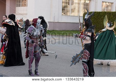 Cosplayer Dressed As The Characters Lady Sylvanas Windrunner