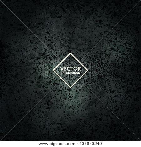 Dark rough gloomy background. Vector abstract grunge design