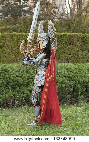 Cosplayer Dressed As The Character Haven Paladin