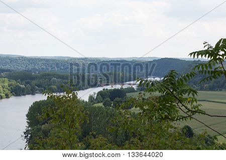 The Dordogne river winds through France's Perigord region