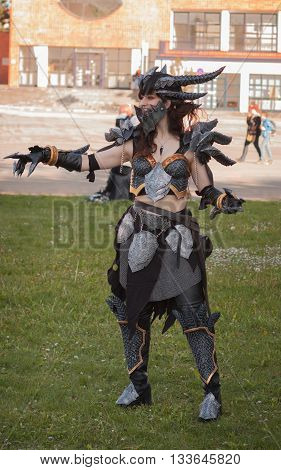 Cosplayer Dressed As The Character Neltharion, Deathwing