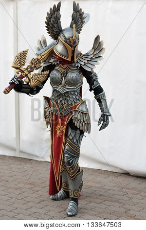 Cosplayer Dressed As The Character Paladin From Game Might, Magic Heroes 7