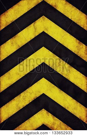 Yellow and black grunge warning stripes background