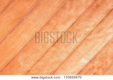 close-up of teak wood plank texture with natural patterns / teak plank / teak wall with diagonal pattern
