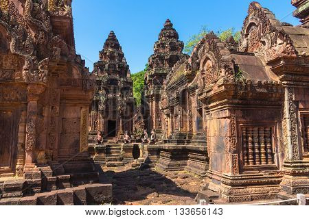Banteay Srei Temple in Siem Reap province, Cambodia