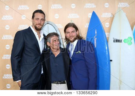 LOS ANGELES - JUN 8:  Ben Robson, Charles Croughwell, Jake Weary at the Animal Kingdom Premiere Screening at the The Rose Room on June 8, 2016 in Venice Beach, CA
