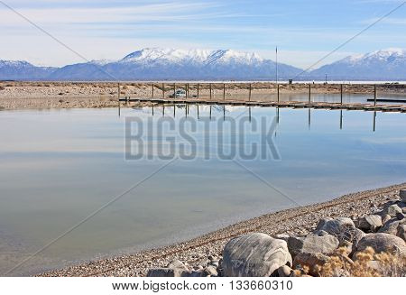 Harbour on Antelope Island State Park, Utah