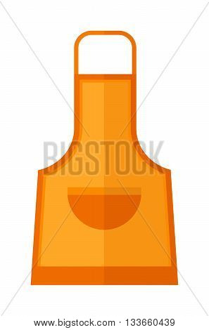 Kitchen apron cooking chef uniform protective clothing vector illustration. Kitchen apron chef uniform and textile kitchen apron. Kitchen apron uniform housewife clothing pocket fashion accessory.