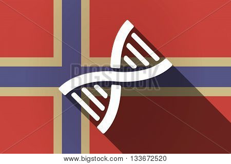 Long Shadow Norway Flag With A Dna Sign