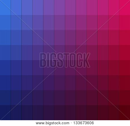 Shades of colors chart.Color box. Vector pantone illustration. poster