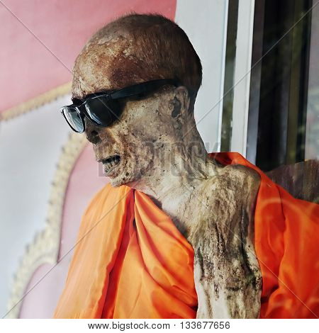 Mummified Monk Body