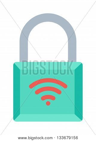 Lock wifi internet icon and security padlock protection lock. Safety password sign lock privacy element and access shape lock. Private lock set safeguard equipment vector collection.