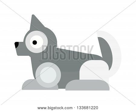 Eskimo dog white samoyed puppy barking and eskimo dog vector cartoon animal. Eskimo dog cute samoyed canine purebred pet and fluffy husky companion eskimo dog. Friend furry husky puppy.