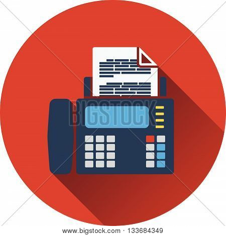 Fax icon. Flat design in UI colors. Vector illustration.