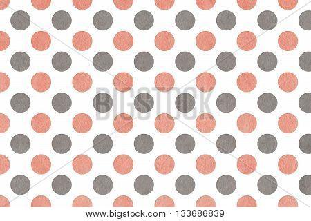 Watercolor Pink And Grey Polka Dot Background.