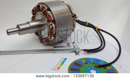 Parts of an electric motor for the industry.