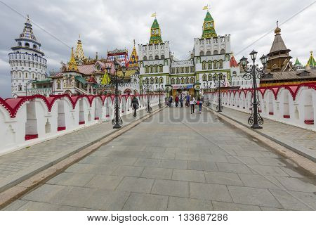 Moscow - June 04: Cultural-entertainment Complex Kremlin In Izmailovo In Moscow, Russia On June 04,