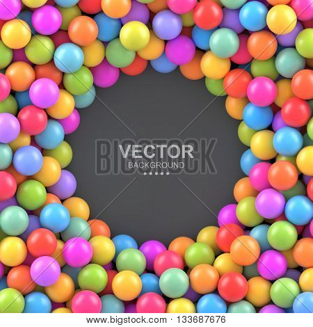 Colorful balls background with place for your content. Vector illustration Eps 10