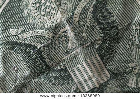 Eagle on the dollar bill