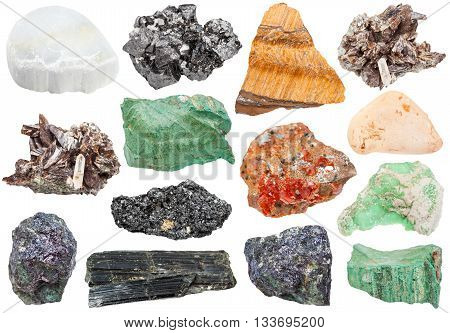 Set Of Various Minerals - Vanadinite, Bornite, Etc