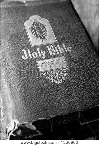 Grammas Book Bw Old Family Bible