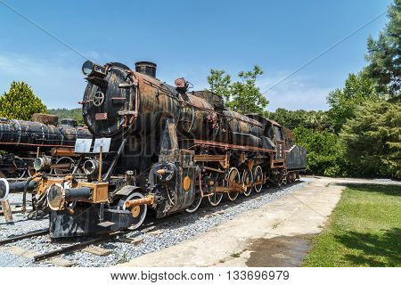 Old Train Locomotive