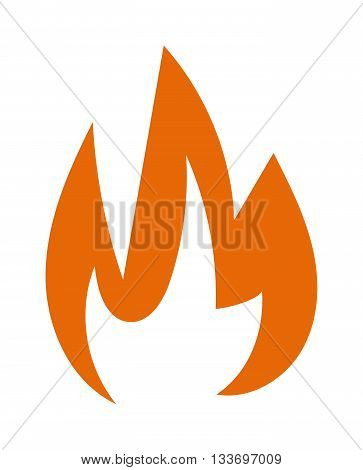 Fire flames hot burn and fire flame vector icon. Warm inferno danger fire flame and cooking yellow fire flame. Orange light blazing campfire ignite fire flame design and detail fireplace passion sign.