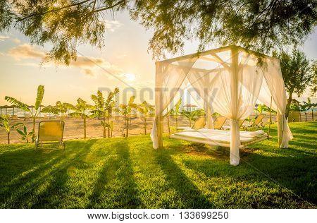 Sunlounger At The Beach