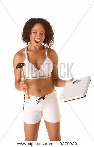 Woman Fighting For Weight Loss