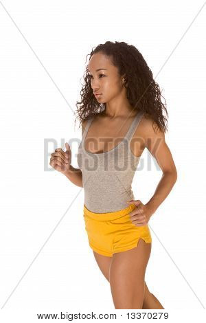 Ethnic Woman Work Out Fitness Jogging