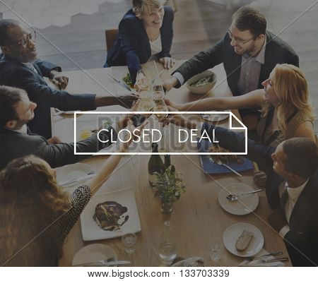 Closed Deal Contract Document Business Concept