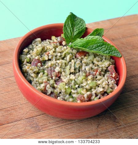 Tabouleh, Tabboule, Taboule: Cracked Wheat (Bulgur) Salad.