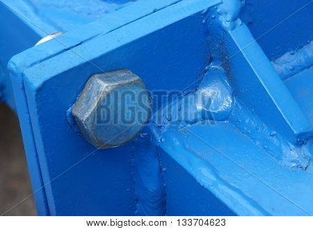 Connection of the painted metallic parts into a single structure with bolt nut and welding