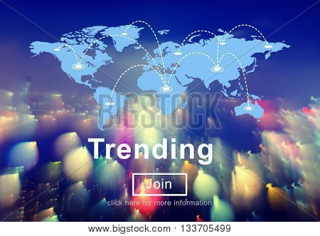 Trend Trending Marketing Popular Style Daily Concept