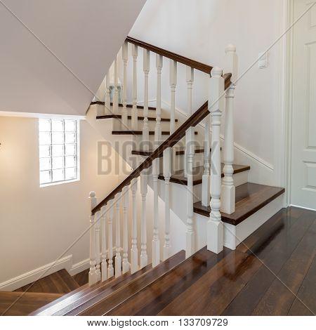 Elegant Wooden Staircase